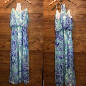 Newbury Kustom medium tie dye maxi dress